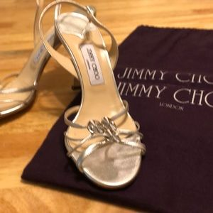 Jimmy Choo Silver Slingbacks